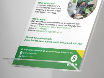 Oxfam – Volunteer Work